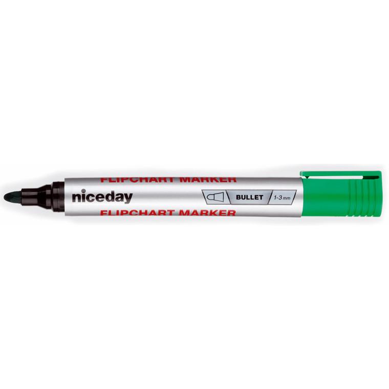 Marker niceday flipover grøn 1-3mm permanent