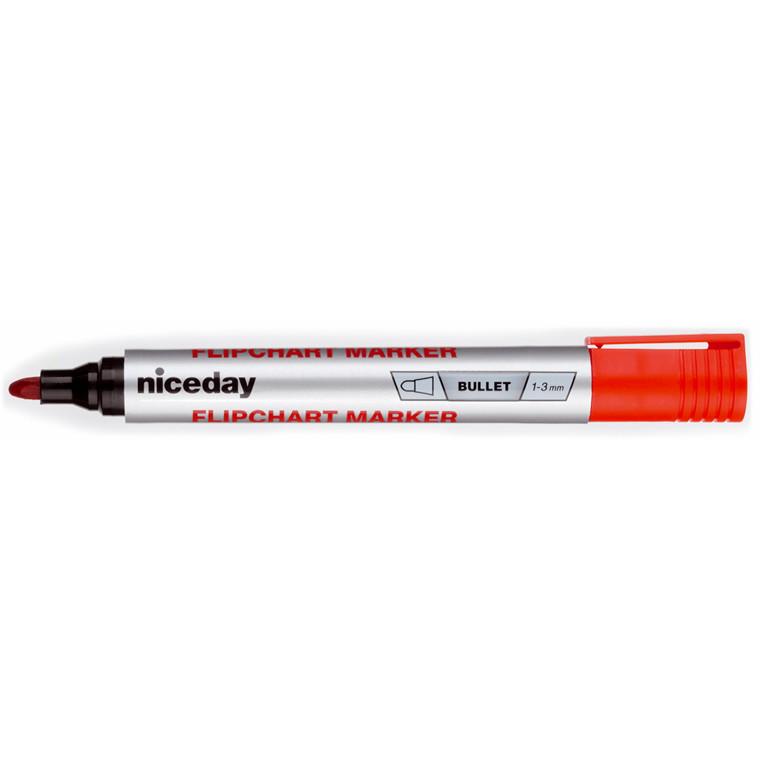 Marker niceday flipover rød 1-3mm permanent