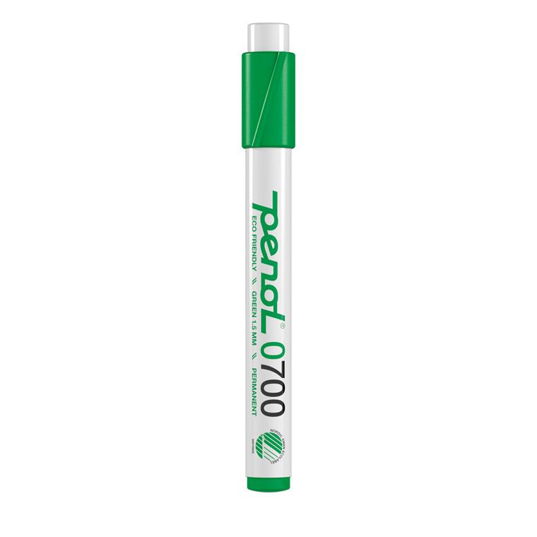 Marker Penol 0700 1,5mm grøn rund spids permanent