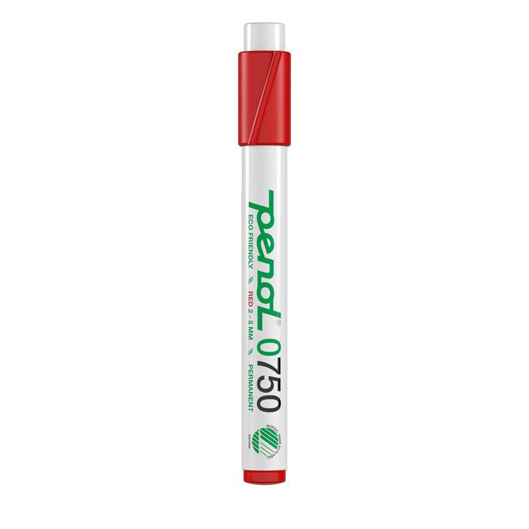 Marker Penol 0750 2-5mm rød skå spids permanent