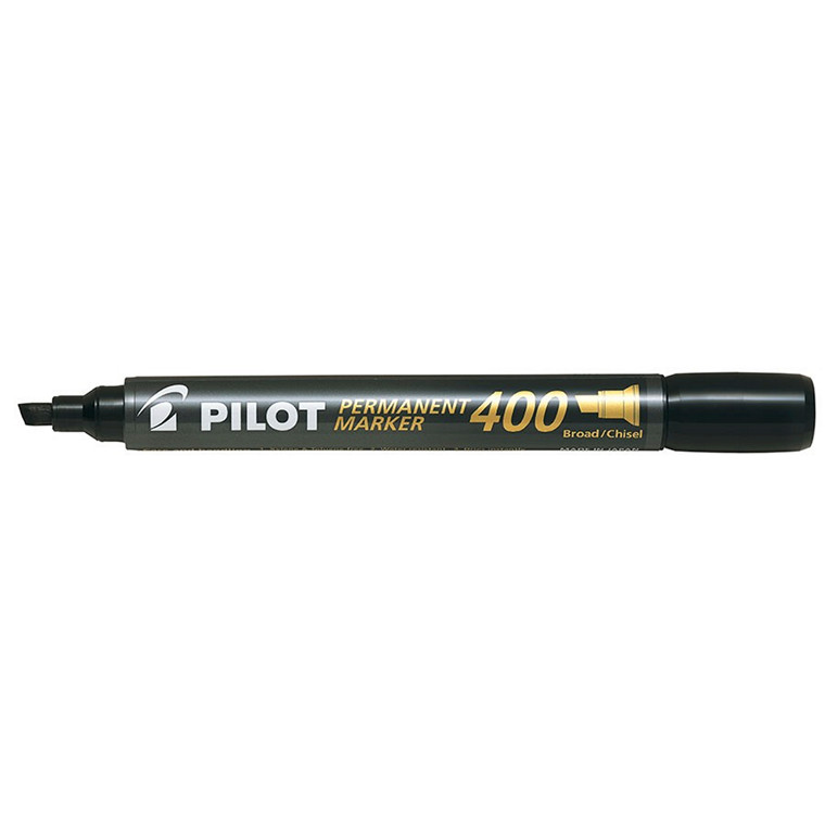 Pilot 400 Marker Permanent sort 1,0 - 4,0 mm - Pakke med 20 stk
