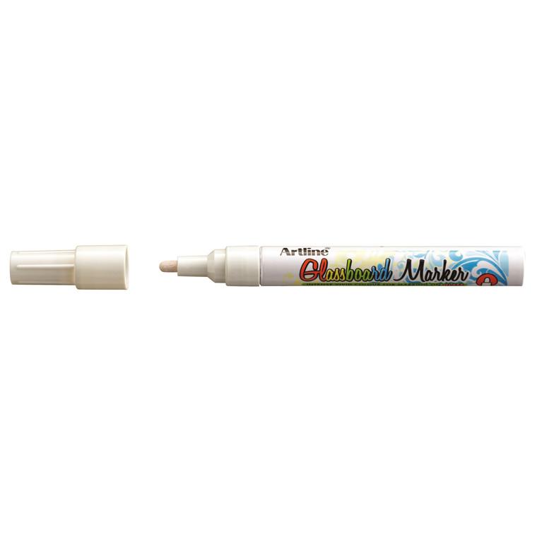 Marker til glastavle - Artline Glassboard EPG4 hvid 2 mm streg