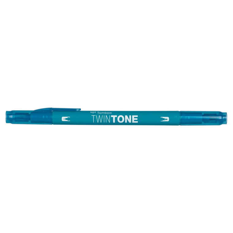Marker Tombow TwinTone turquoise blue 0,3/0,8
