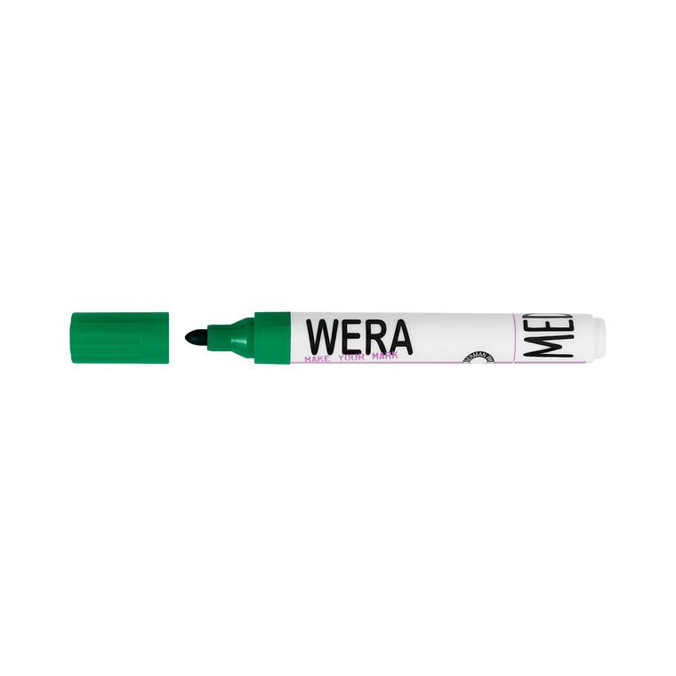 Marker Wera grøn permanent rund spids 2-3mm