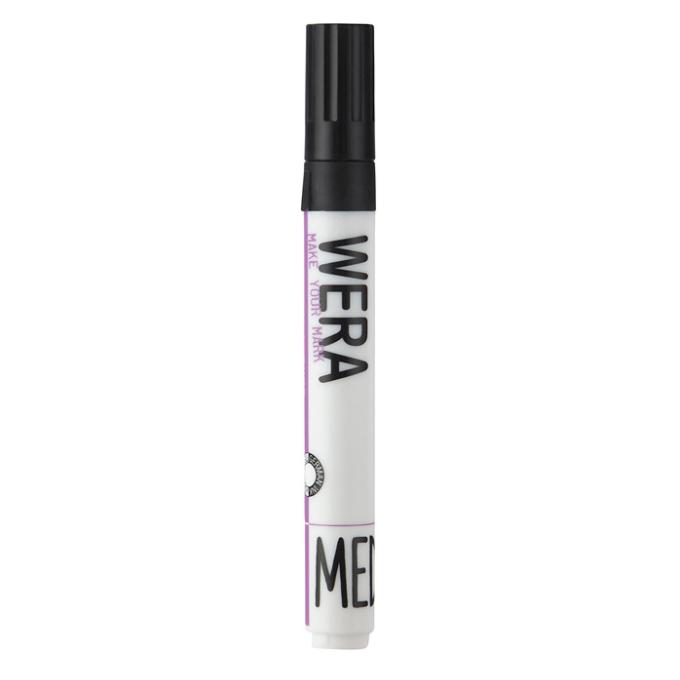Marker WERA permanent sort rund spids 2 mm