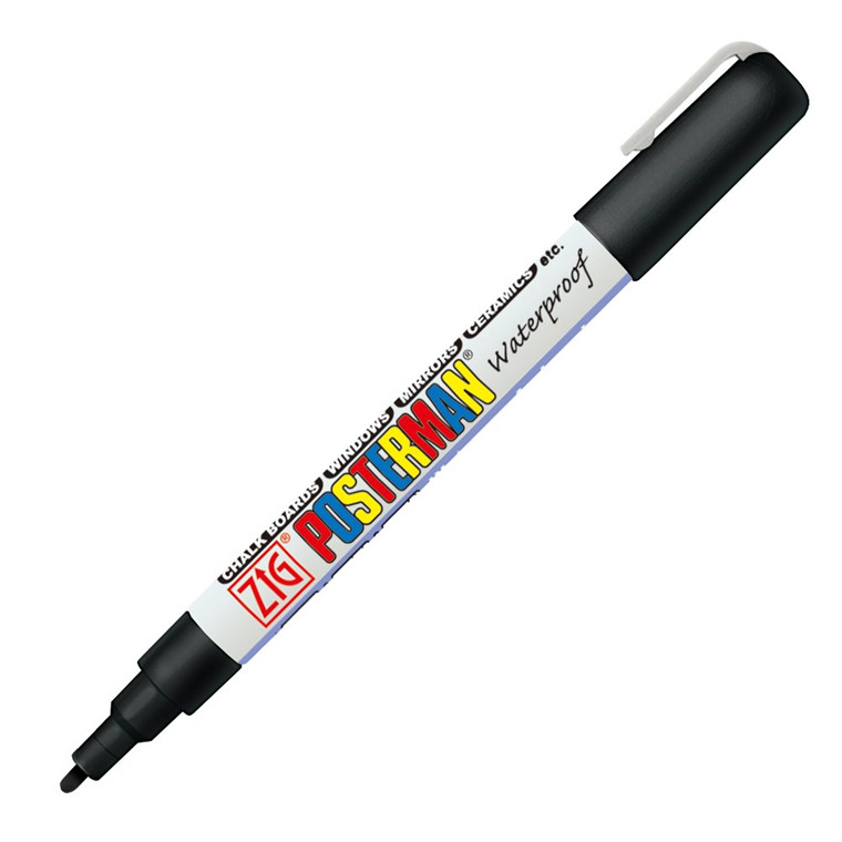 Marker ZIG Posterman Fine 1mm sort
