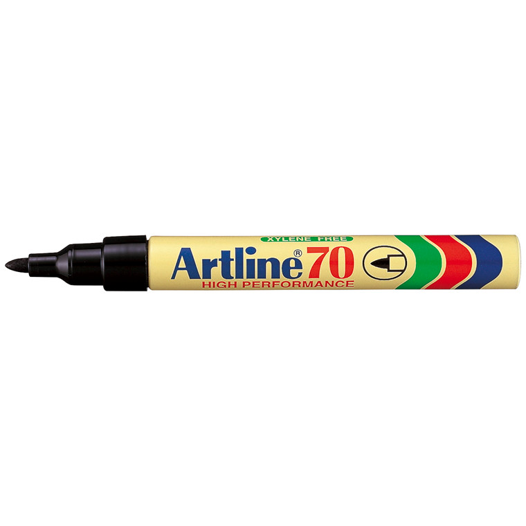 Markere Artline permanent sort EK-70/1 blisterpak