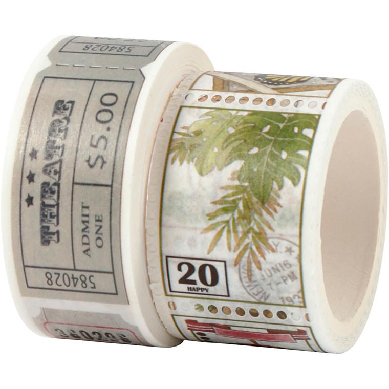 Masking Tape, B: 20+25 mm, L: 3+5 m, 2rl.