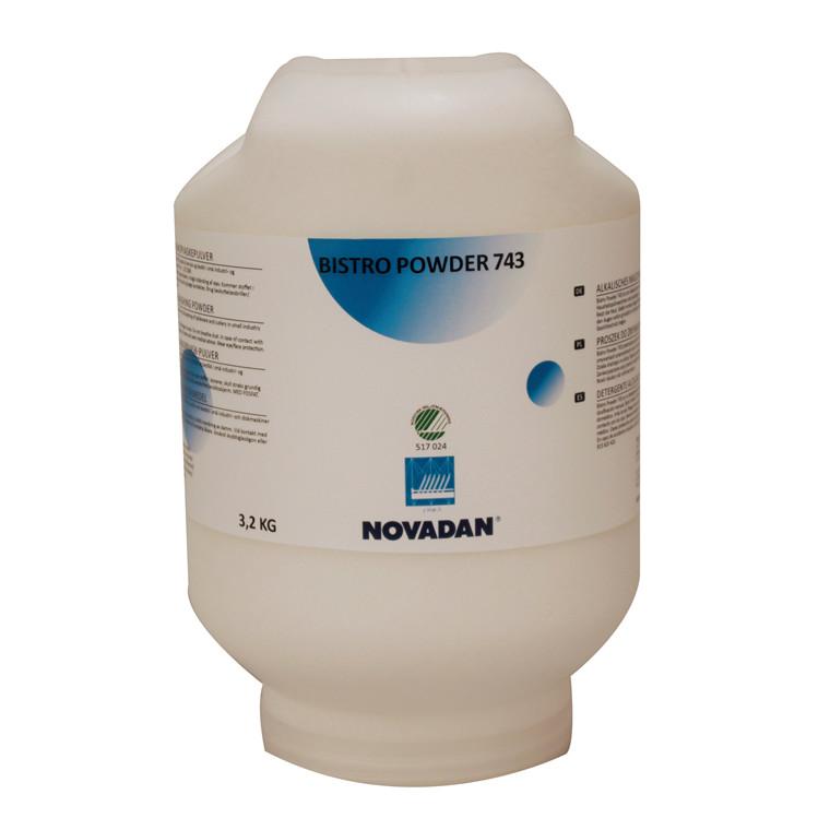 Novadan Bistro Powder 743 Maskinopvask | 3,2 kg flaske