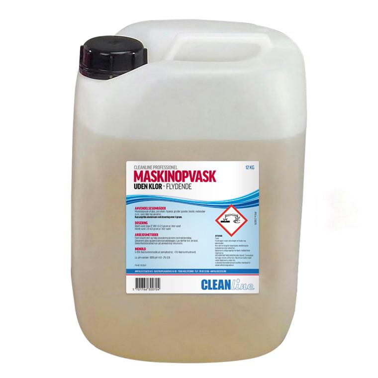 Cleanline Maskinopvask uden klor | 12 liter dunk
