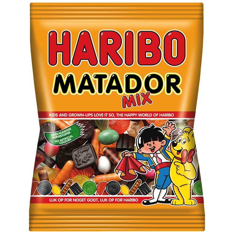 Matador Mix Haribo - 135 gram - 42 poser i en pakke