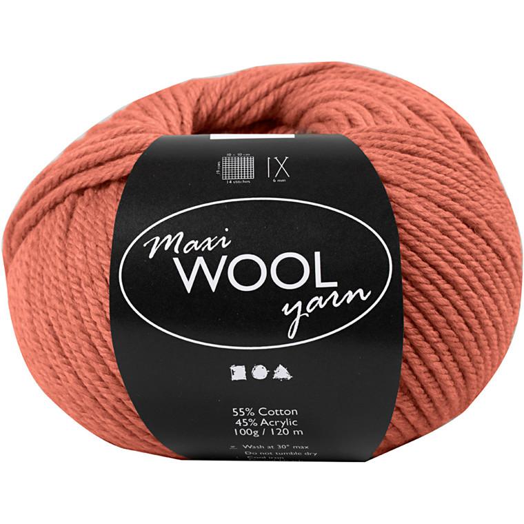 Maxi Wool uldgarn længde 125 meter mørk rosa | 100 gram