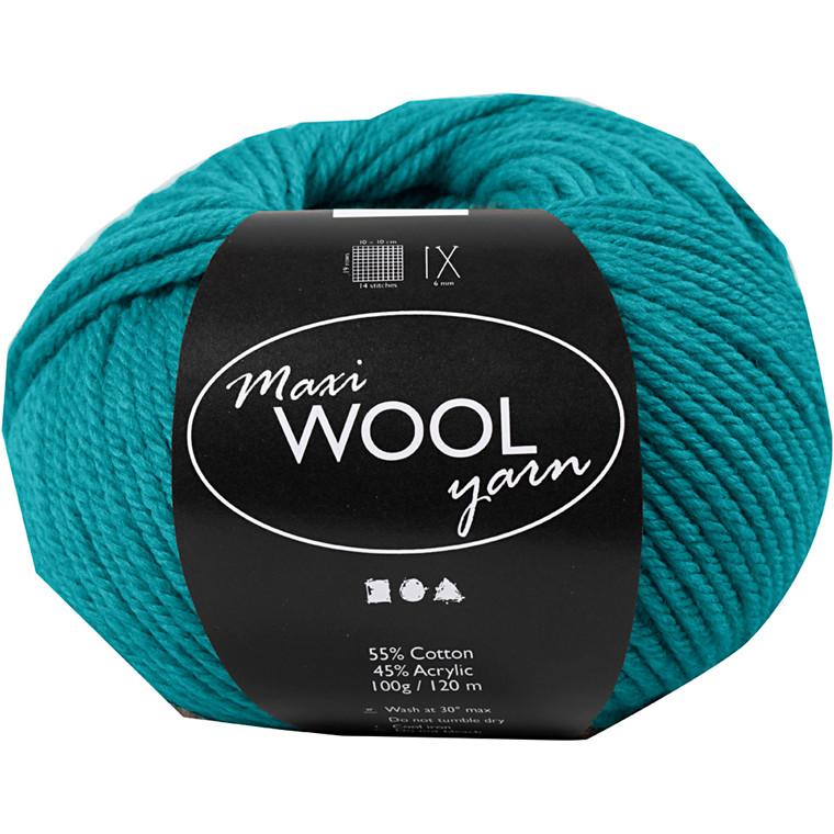 Maxi Wool uldgarn længde 125 meter petrol | 100 gram