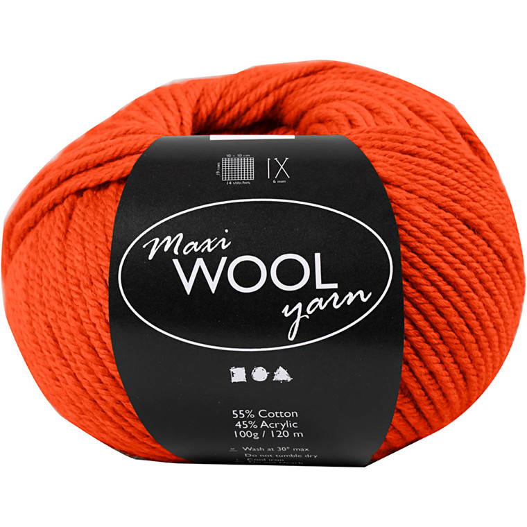 Maxi Wool uldgarn længde 125 meter rustrød | 100 gram