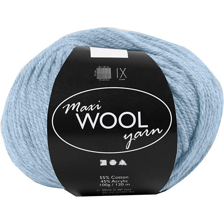 Maxi Wool uldgarn længde 125 meter sart blå | 100 gram