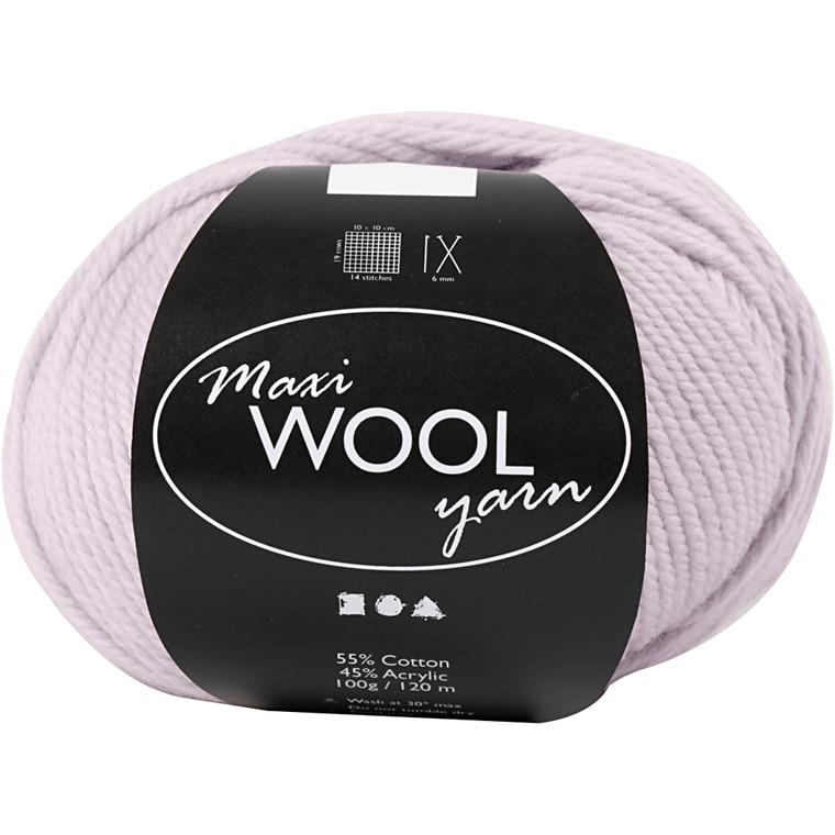 Maxi Wool uldgarn længde 125 meter sart rosa - 100 gram