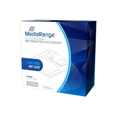 """Disketter 3,5"""" MediaRange Floppy Disks 1.44 MB MF-2HD - 10 stk."""