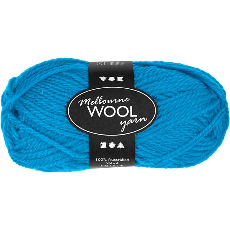 Melbourne uldgarn længde 92 meter lys blå - 50 gram