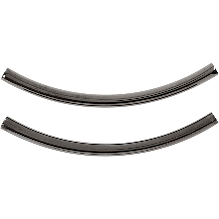 Mellemstykke, L: 50 mm, tykkelse 3 mm, mørk grå metallic, 4stk.