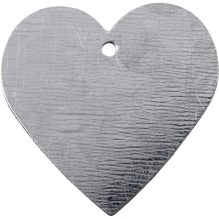 Metalhjerte størrelse 30 x 30 mm tykkelse 1 mm hulstørrelse 2 mm | 15 stk