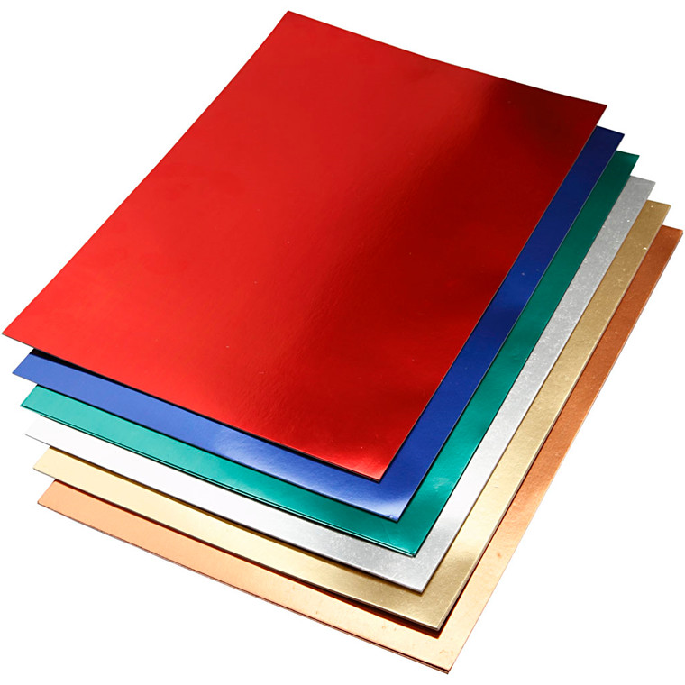 Metalkarton, A2 420x600 mm, 280 g, ass. farver, 30ass. ark