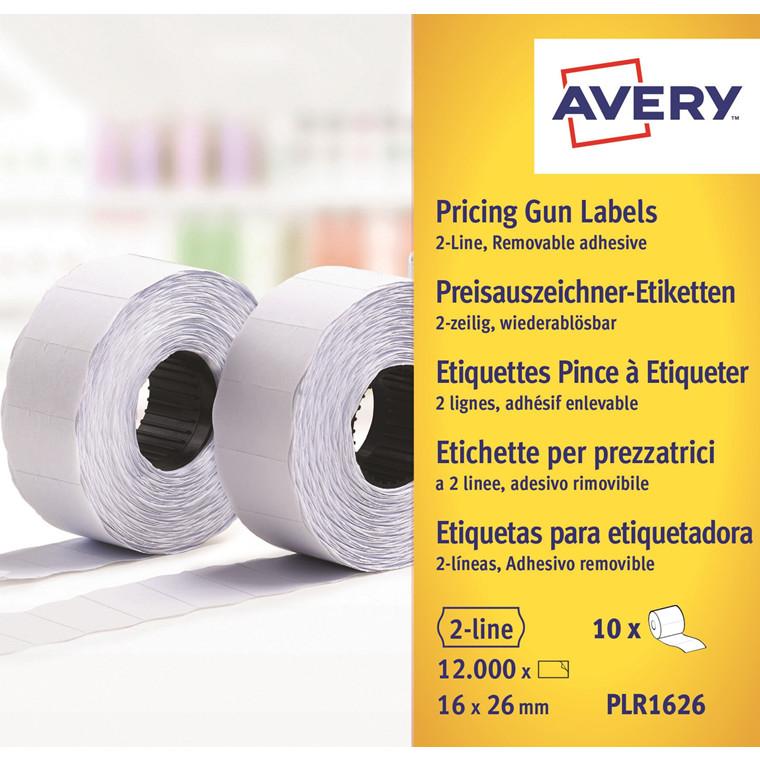 METO Labels 26x16 G1 White 10-rolls