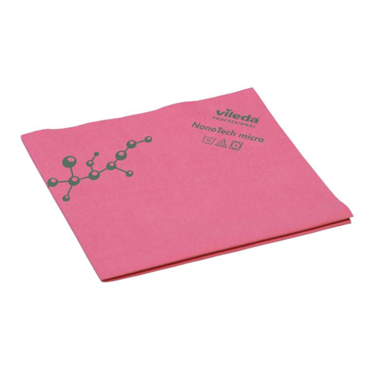 Microfiber klud, Vileda NanoTech, rød, 70% polyester, 30% polyamid, 40x38 cm