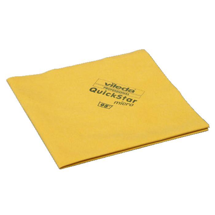 Microfiber klud, Vileda QuickStar micro, gul, 70% polyester, 30% polyamid, 40x38 cm