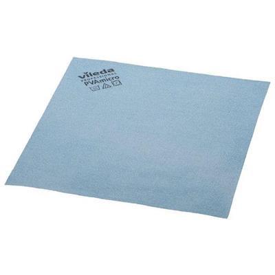 Microfiber klud, Vileda, blå, med PVA imprægnering, 80% polyester, 20% polyamid - 10 stk