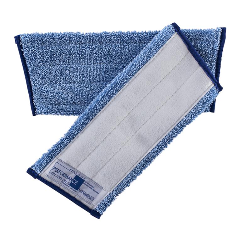 Microfibermoppe, med velcro, blå, 30 cm