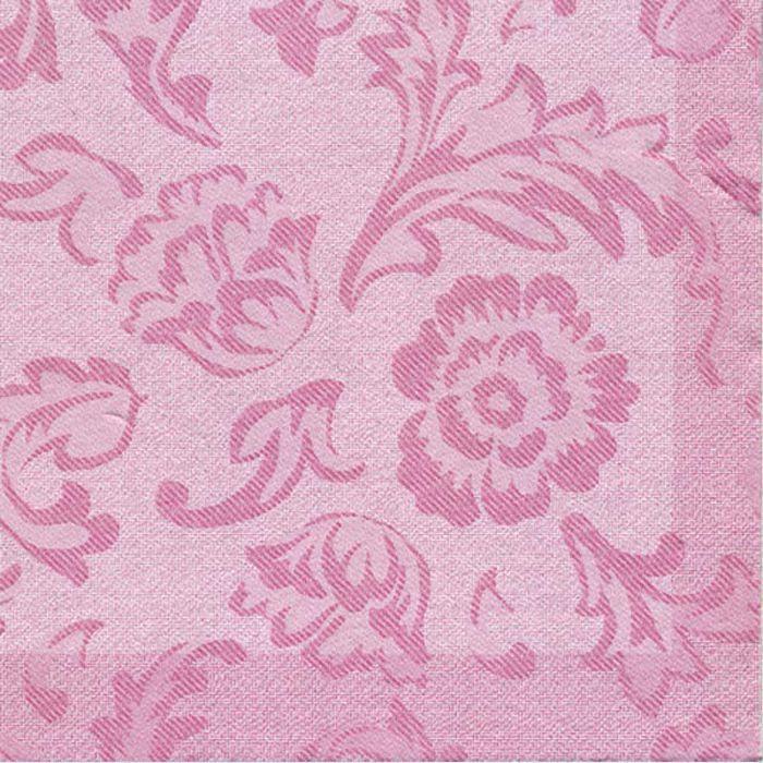 Middagsserviet, 1/4 fold, design, rosa, airlaid, 40cm x 40cm