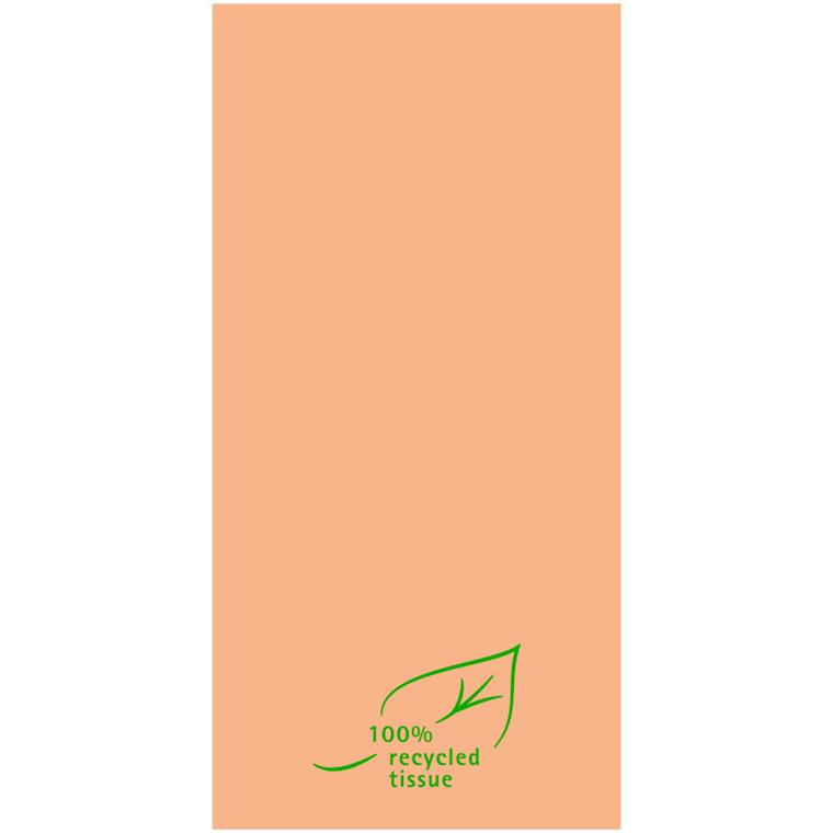 Middagsserviet, 2-lags, 1/8 fold, 40x40cm, brun, Softpoint, 100% genbrugs fibre
