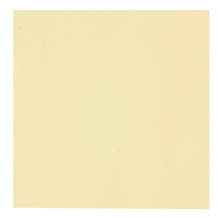 Middagsserviet, Gastro-Line, 3-lags, 1/4 fold, champagne, papir, 40cm x40cm