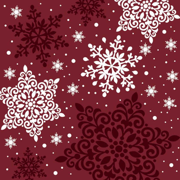 Middagsserviet, Abena Gastro-Line, Red Christmas, 3-lags, 1/4 fold, 40x40cm, flerfarvet, papir