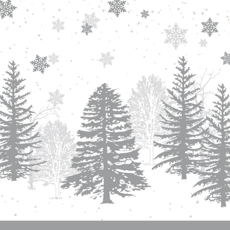 Middagsserviet, Abena Gastro-Line, Winter Elegance, 3-lags, 1/4 fold, 40x40cm, flerfarvet, papir