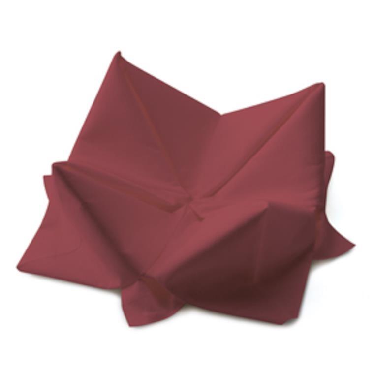Middagsserviet, Duni, 3-lags, 1/4 fold, bordeaux, papir, 40cm x 40cm