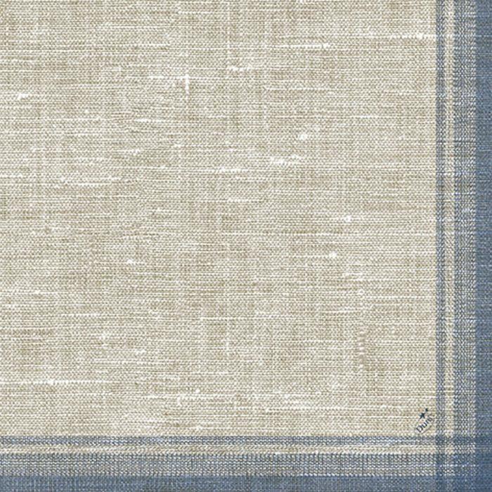 Middagsserviet, Duni Tissue, linus blå, papir, 40cm x 40cm
