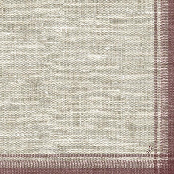 Middagsserviet, Duni Tissue, Linus Bordeaux, papir, 40cm x 40cm