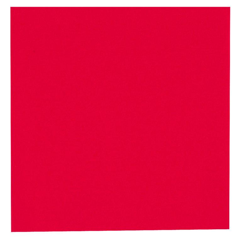 Middagsserviet, Gastro-Line, 2-lags, 1/4 fold, rød, papir, 40cm x 40cm