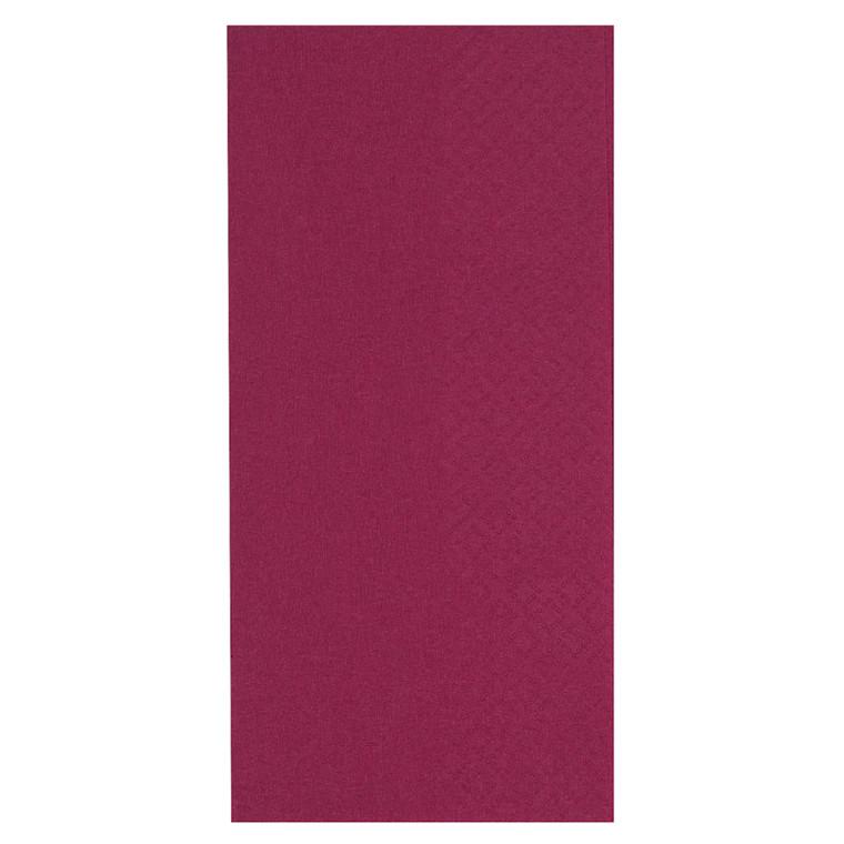 Middagsserviet, Gastro-Line, 2-lags, 1/8 fold, bordeaux, papir, 40cm x 40cm