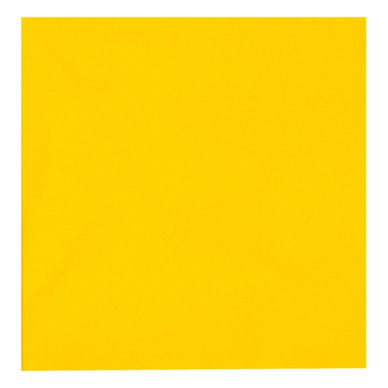 Middagsserviet, Gastro-Line, 3-lags, 1/4 fold, gul, 100% nyfiber, 39cm x 39cm