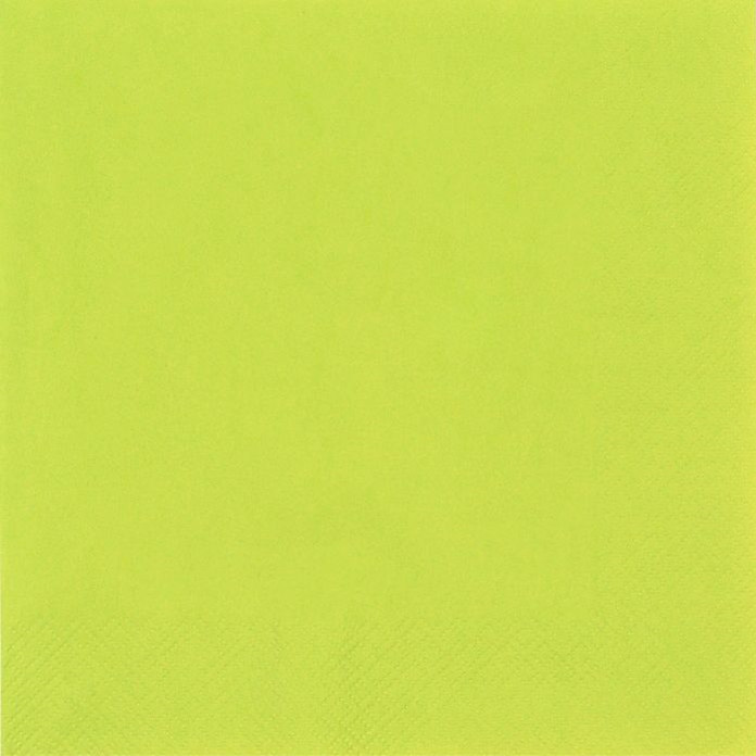 Middagsserviet, Gastro-Line, 3-lags, 1/4 fold, limegrøn, 100% nyfiber, 40cm x 40cm