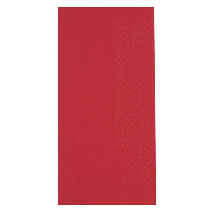 Middagsserviet, Gastro-Line, 3-lags, 1/8 fold, rød, 100% nyfiber, 40cm x 40cm