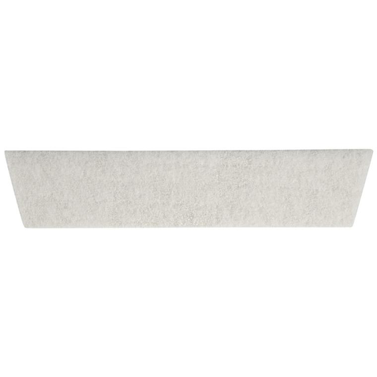Mikrosål, til gulvvask, hvid, 9 cm
