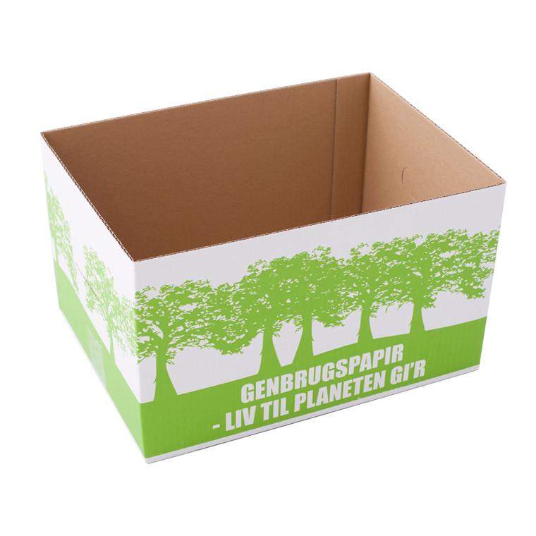 Miljøkasse til genbrugspapir - 340 x 250 x 200 mm