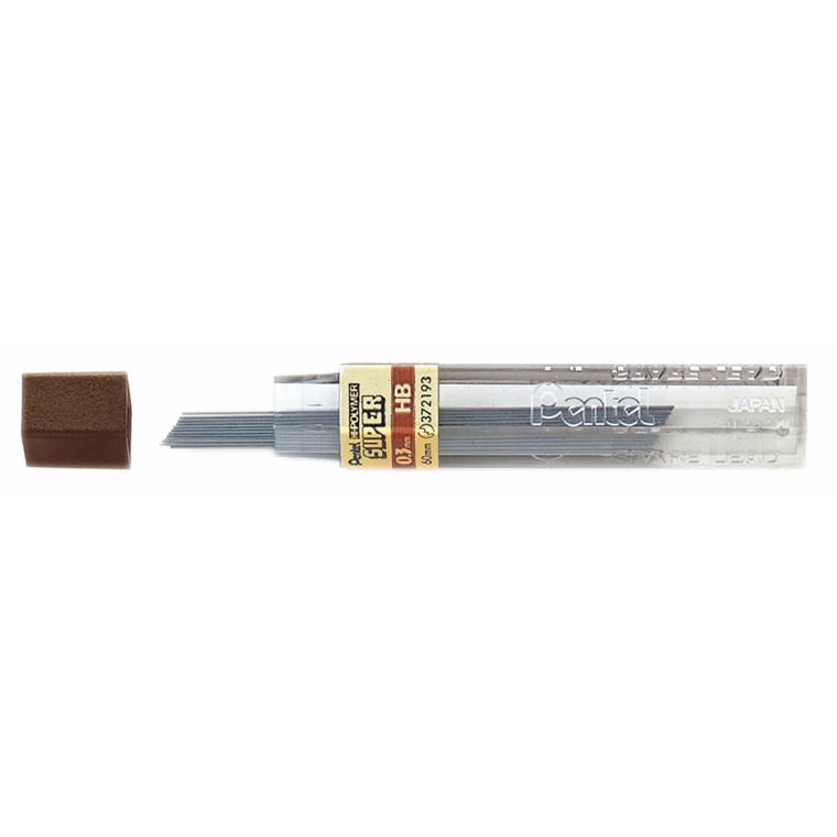 Pentel Miner - Stifter 0,3 mm HB 12 stk pr. tube 2330162 - 12 tuber