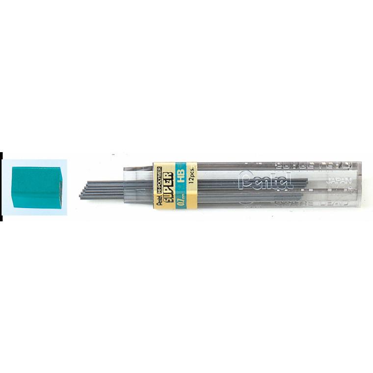 Pentel Stifter 0,7 mm HB - 12 stk pr tube 2370162 - 12 tuber