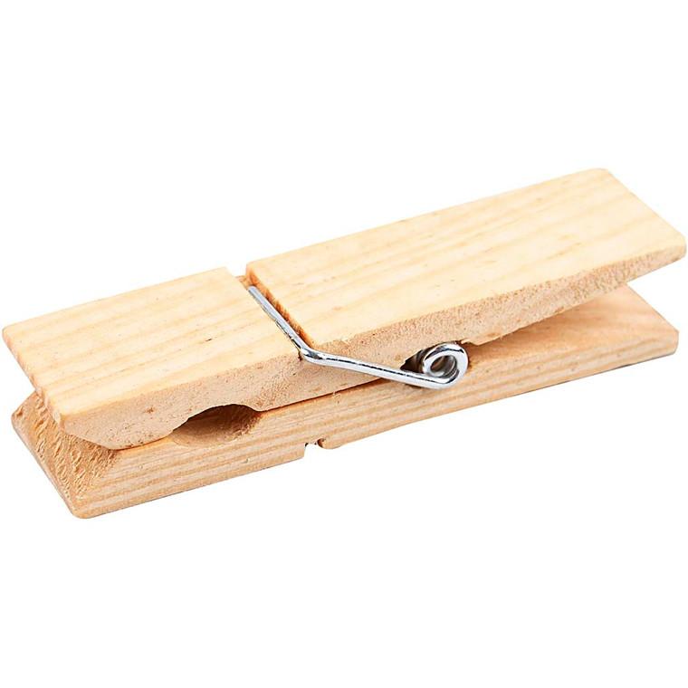 Mini huskeklemme Længde 7,2 cm Bredde 2 cm fyr | 10 stk.