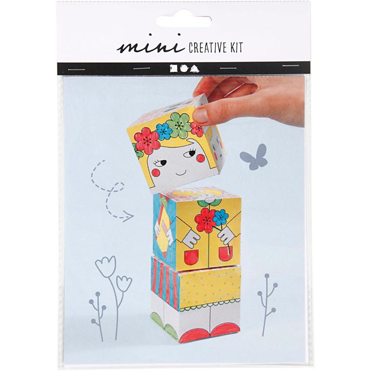 Mini kreative sæt, stabelklodser - prinsesser, 1sæt