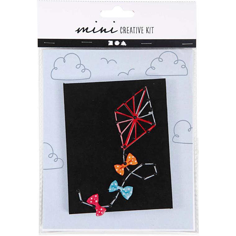 Mini kreative sæt, string art - drage, 1sæt